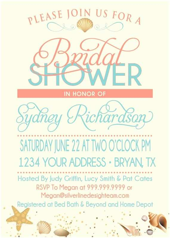 Beach theme Bridal Shower Invitations Best 25 Beach Bridal Showers Ideas On Pinterest