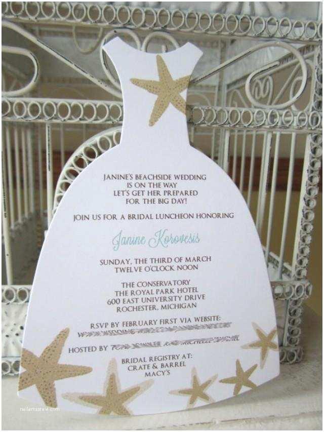 Beach themed Bridal Shower Invitations Beach theme Star Fish Bridal Shower Invitation Custom