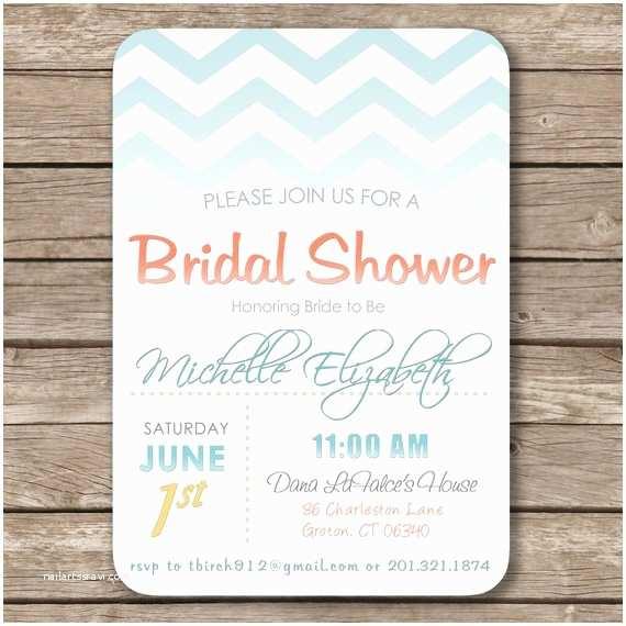 Beach themed Bridal Shower Invitations Bridal Shower Invitations Unique Bridal Shower