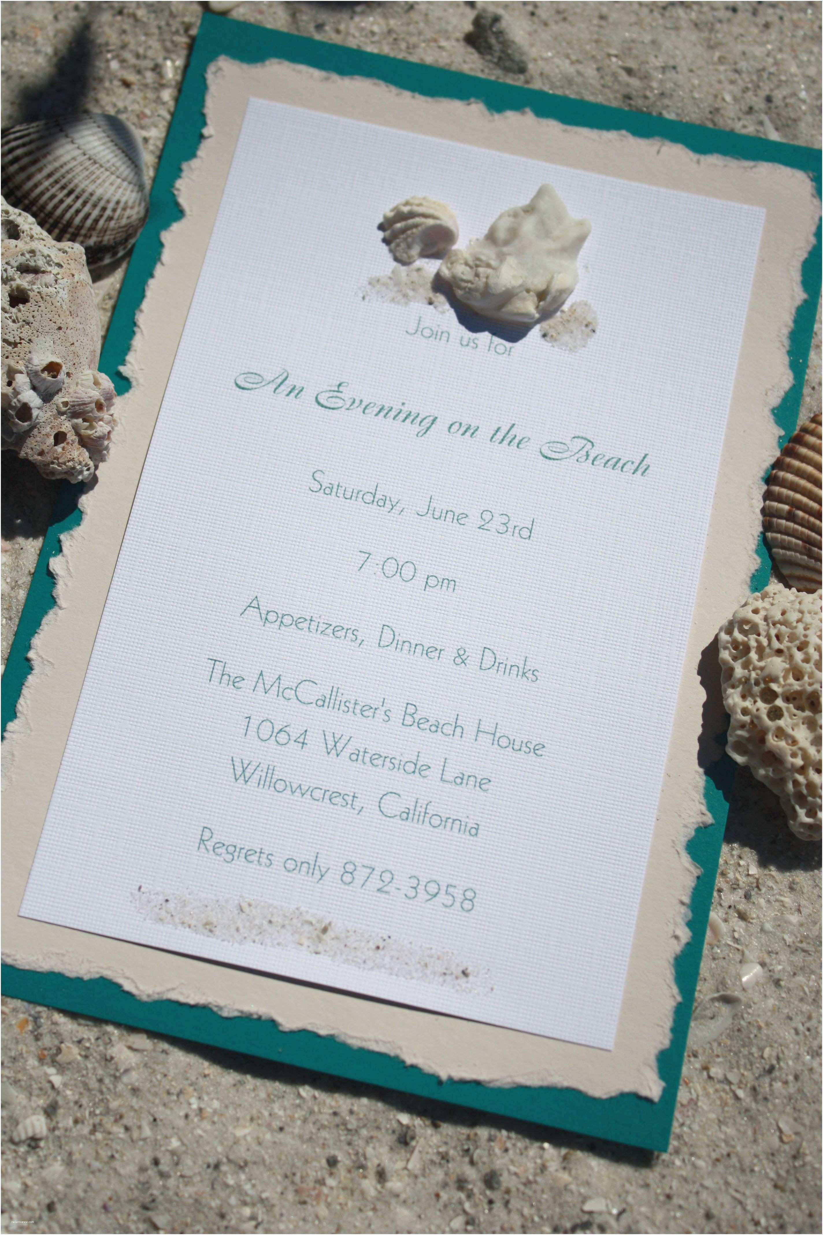 Beach themed Wedding Invitations Invitation Card Beach themed Wedding Invitation Invite