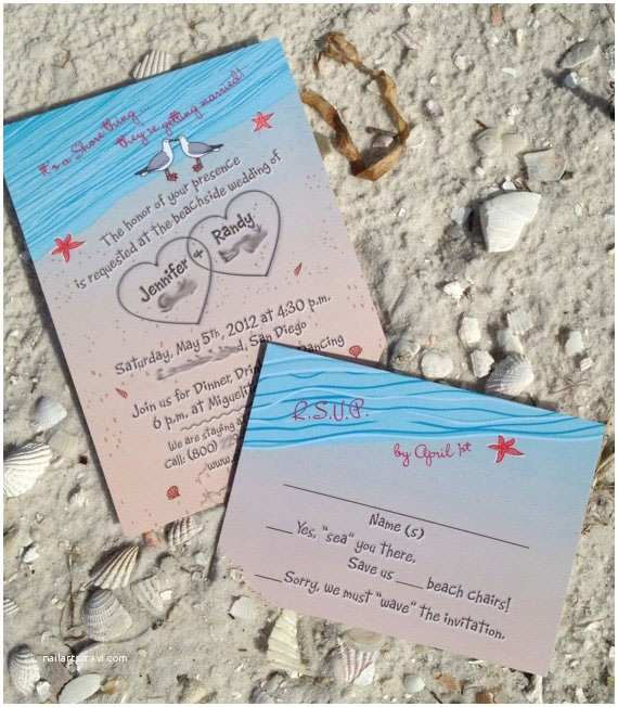 Beach Wedding Invitation Sample 20 Best Images About Wedding Invitations On Pinterest