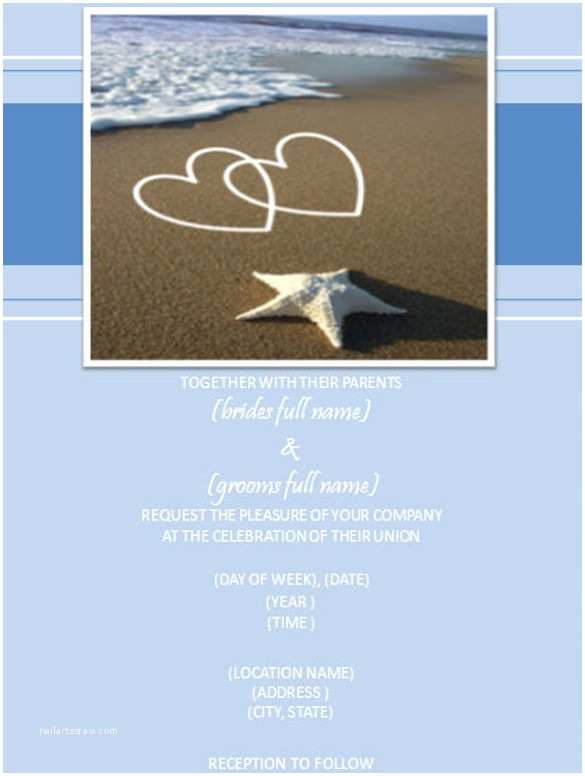 Beach Wedding Invitation Sample 25 Beach Wedding Invitation Templates – Free Sample