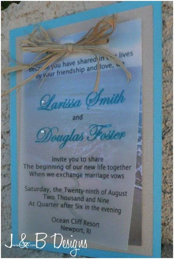 Beach Wedding Invitation Sample Beach Wedding Invitation Sample by Jolynevents1 On Etsy