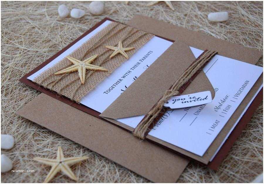 Beach Wedding Invitation Sample Beach Wedding Invitation Starfish Invitation Destination