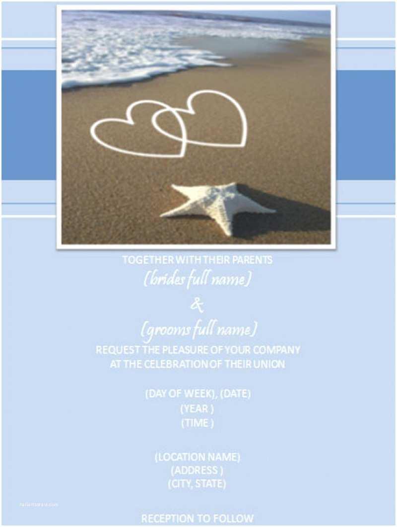 Beach Wedding Invitation Sample Free Beach Wedding Invitation – orderecigsjuicefo