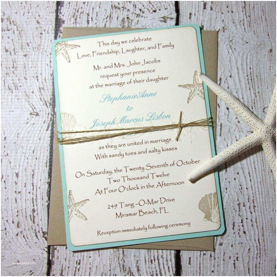 Beach Wedding Invitation Sample Sample Aqua Beach Wedding Invitations Wedding Invitations
