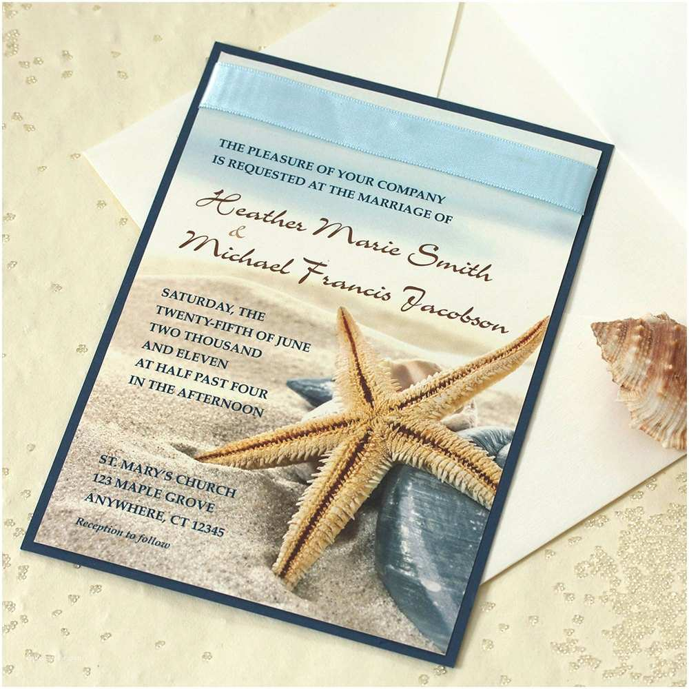 Beach Wedding Invitation Sample Starfish Wedding Invitation Beach Wedding Invitation Sample