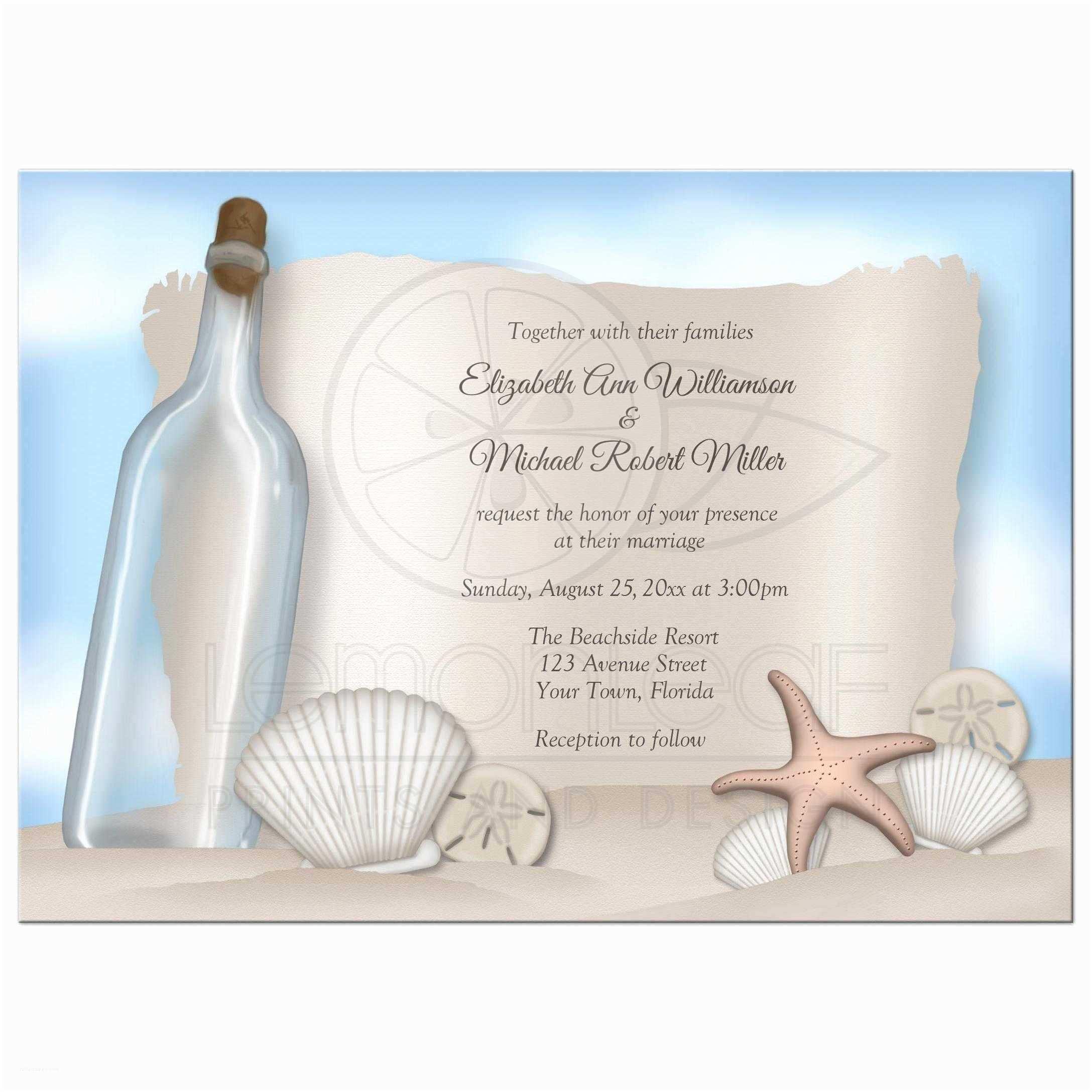 Beach Wedding Invitation Sample Wedding Invitation Beach Wedding Invitation Wording