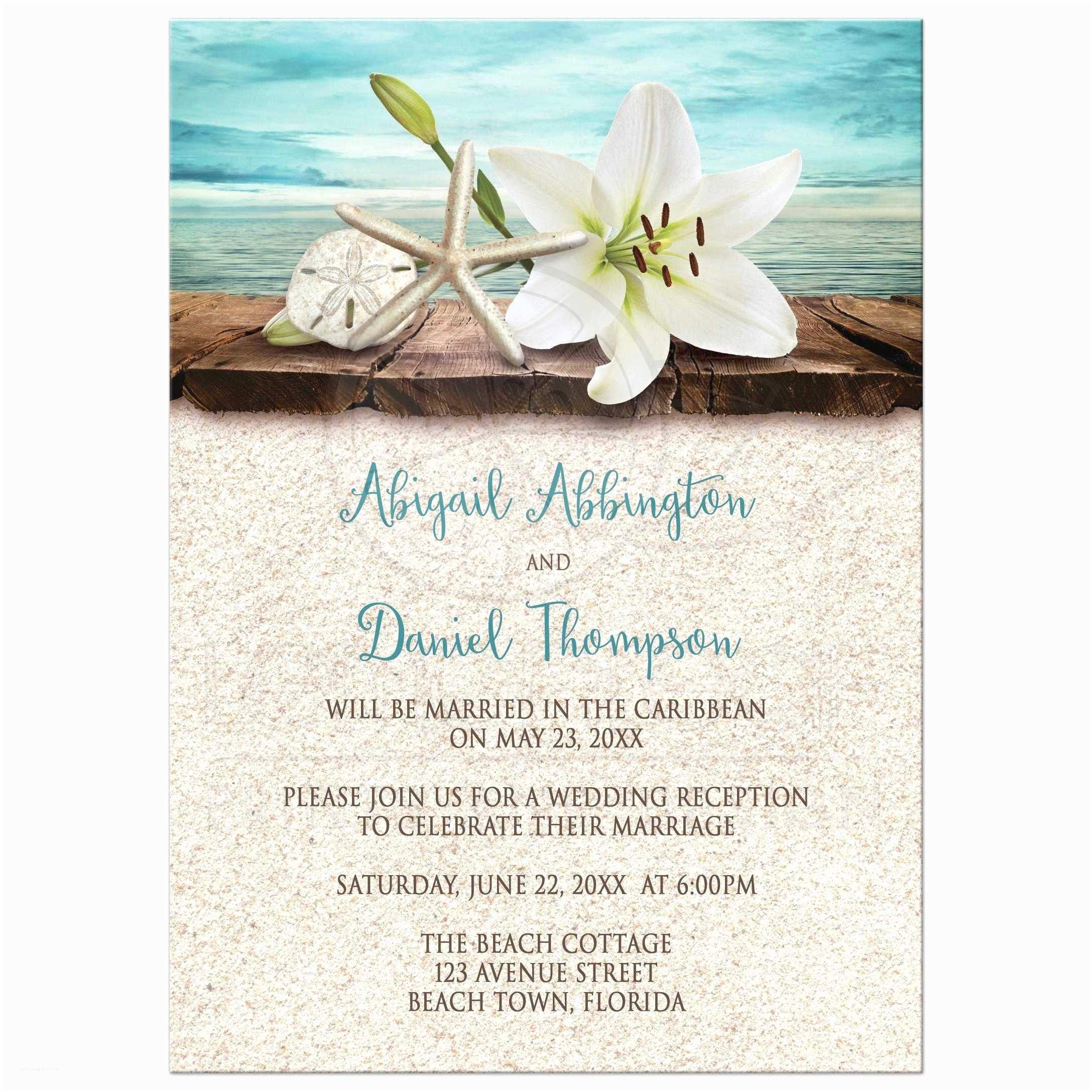 Beach Wedding Invitation Sample Wedding Invitations Beach Reception Invitations Invite