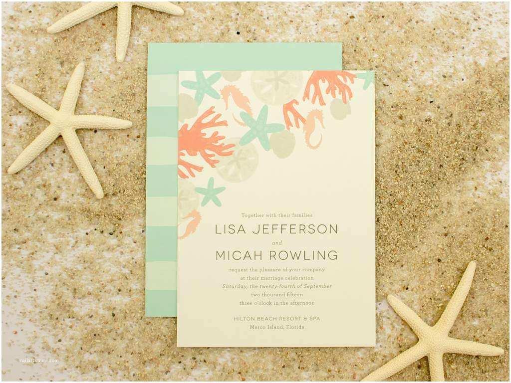Beach Wedding Invitation Templates Casual Wedding Invitation Wording