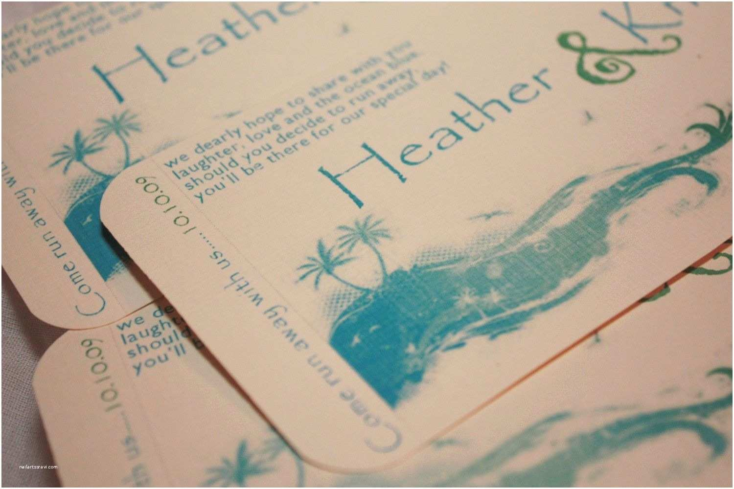 Beach Wedding Invitations Beach themed Wedding Invitation Beach Wedding