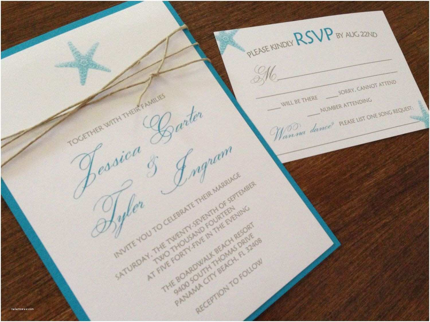 Beach Wedding Invitations Beach Wedding Invitation Sets Diy Wedding Invitation