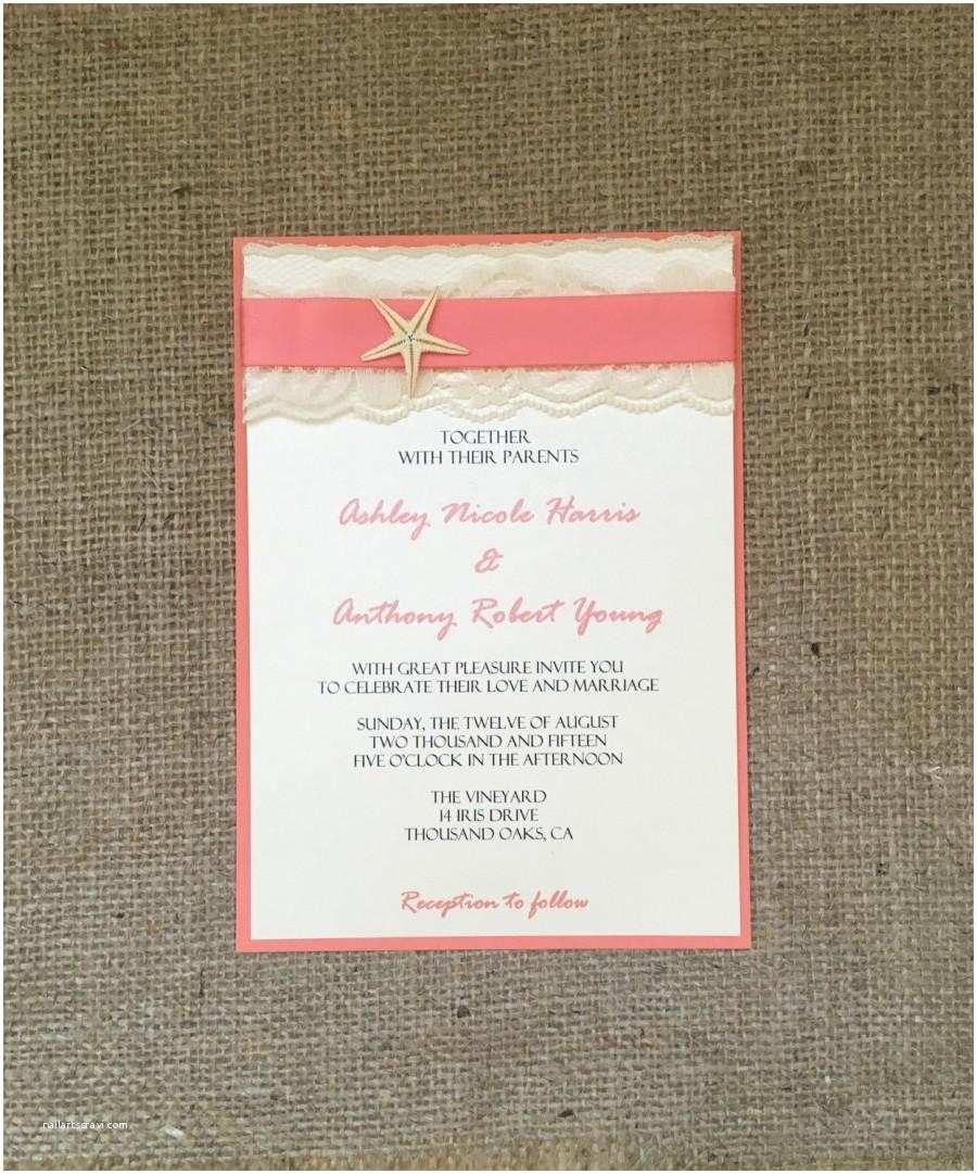 Beach Wedding Invitations Kits Amazing Starfish Wedding Invitation Kit Picture Collection