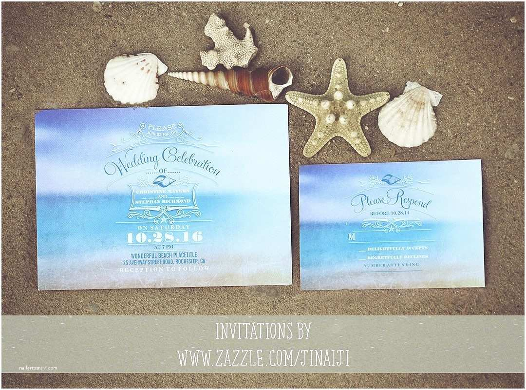 Beach Wedding Invitations Kits Beach themed Wedding Invitations Bottle Tags Beachy
