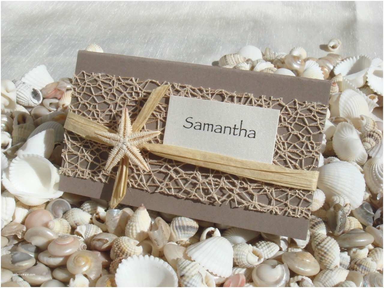 Beach Wedding Invitations Kits Beach Wedding Diy Place Card Kit Urban Starfish Natural