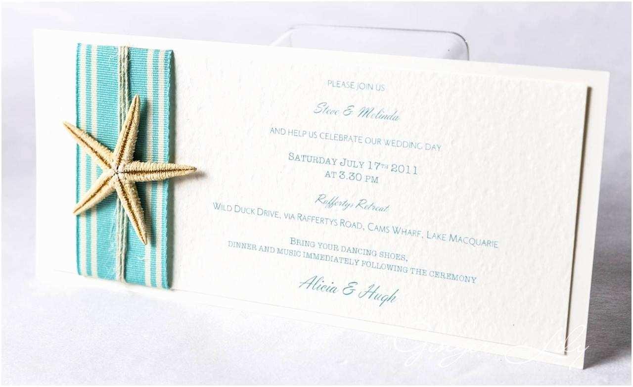 Beach Wedding Invitations Kits Beach Wedding Invitation Diy Kit island Starfish Dl