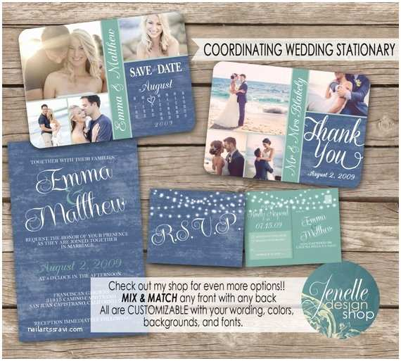 Beach Wedding Invitations Kits Beach Wedding Invitation Kit Save the Date by