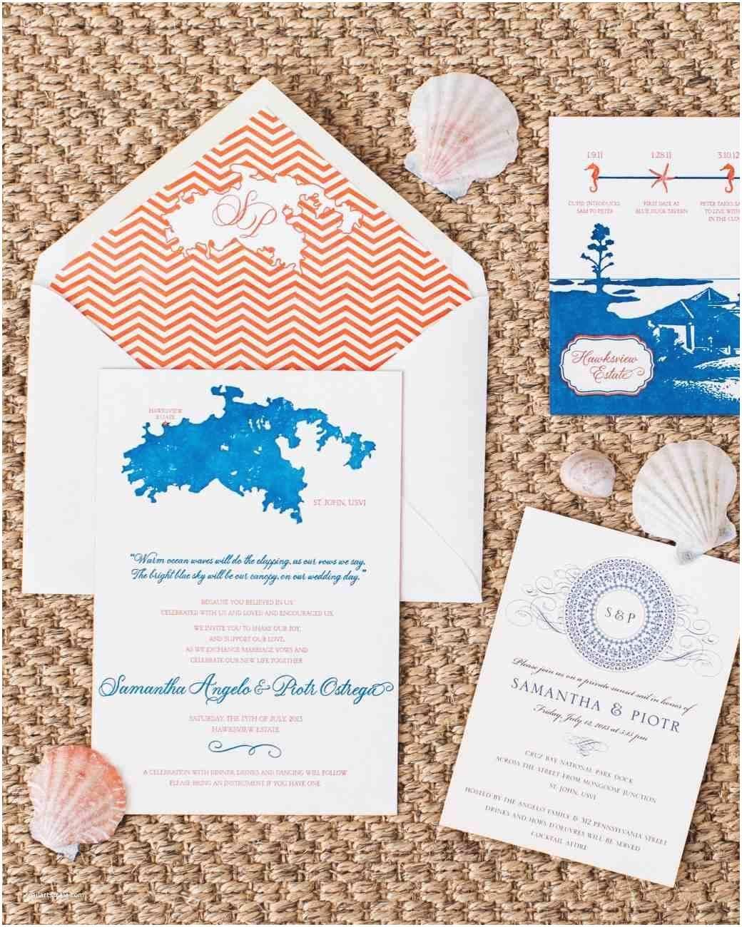 Beach Wedding Invitations Kits Beach Wedding Invitation Sets Beach themed Wedding