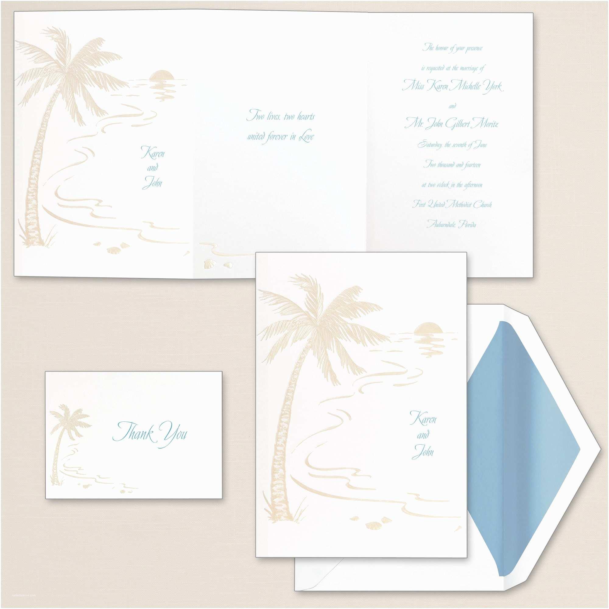 Beach Wedding Invitations Kits Beach Wedding Invitation Various Invitation Card Design