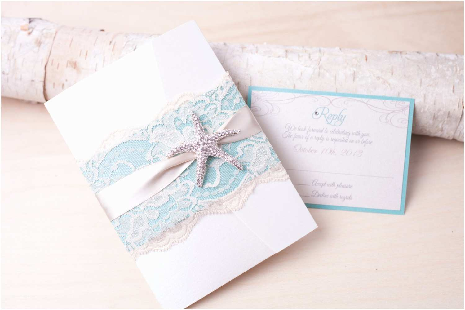 Beach Wedding Invitations Kits Designs Exquisite Starfish Wedding Invitation Kit with