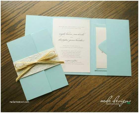 Beach Wedding Invitations Kits Diy Rustic Beach Pocketfold Invitation Kit – Eco Friendly