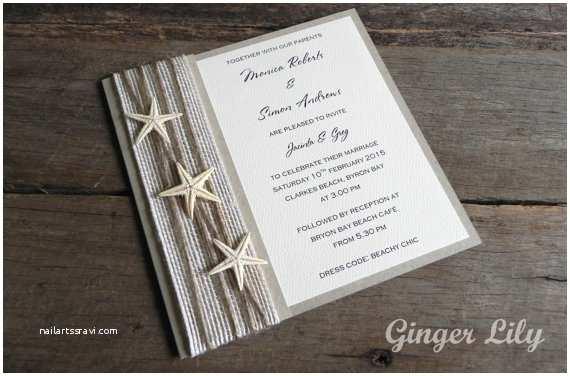 Beach Wedding Invitations Kits Rustic Beach Wedding Invitation Diy Kit by Gingerlilyweddings
