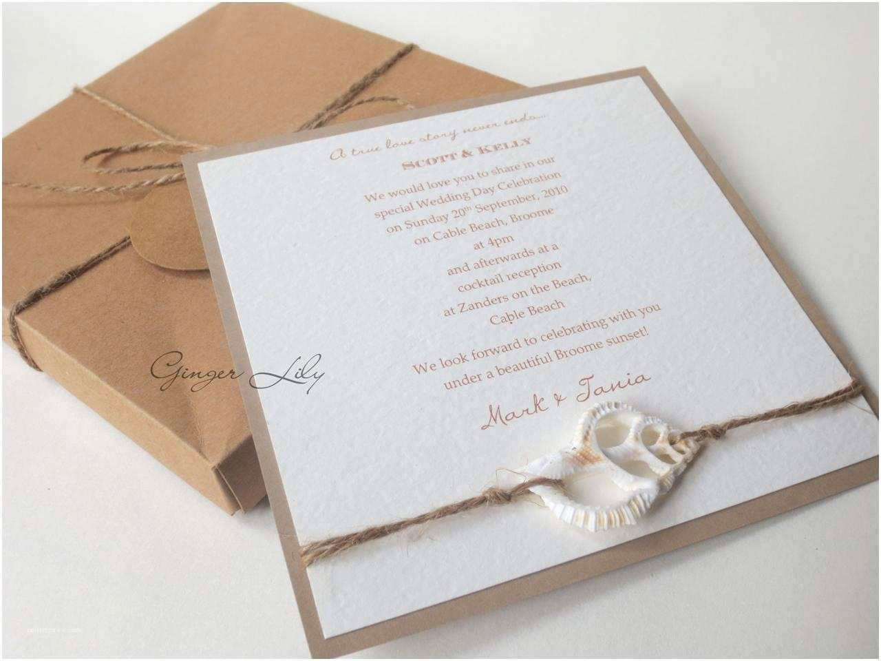 Beach Wedding Invitations Kits Wedding Invitation Diy Kit Vintage Beach Makes 25