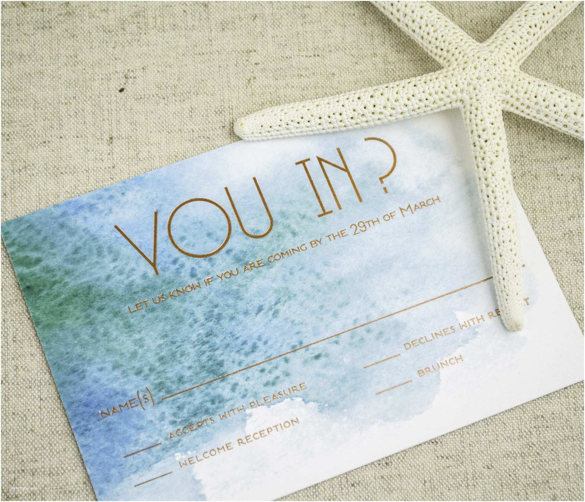 Beach Wedding Invitations Modern Beach theme Wedding Invitations Yaseen for