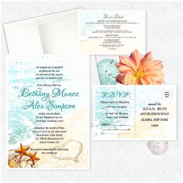 Beach Wedding Invitations Online 15 Beach Wedding Invitations Psd Vector Eps Ai