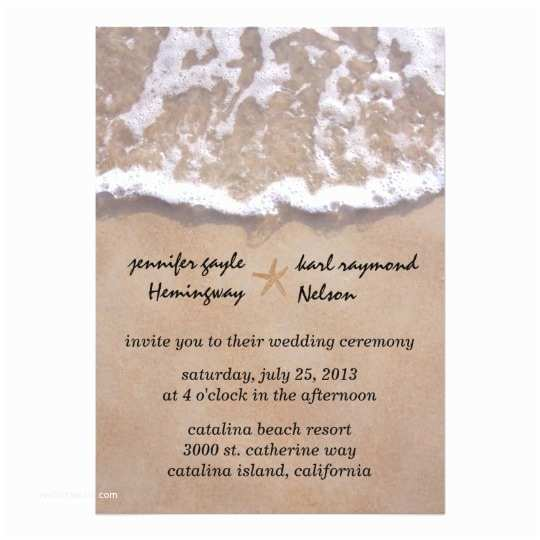 Beach Wedding Invitations Online Casual Beach theme Wedding Invitation