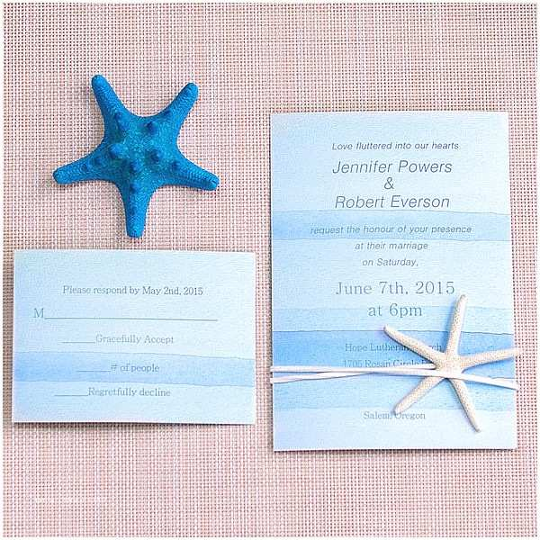 Beach Wedding Invitations Online Cheap Watercolor Beach Wedding Invitation with Starfish