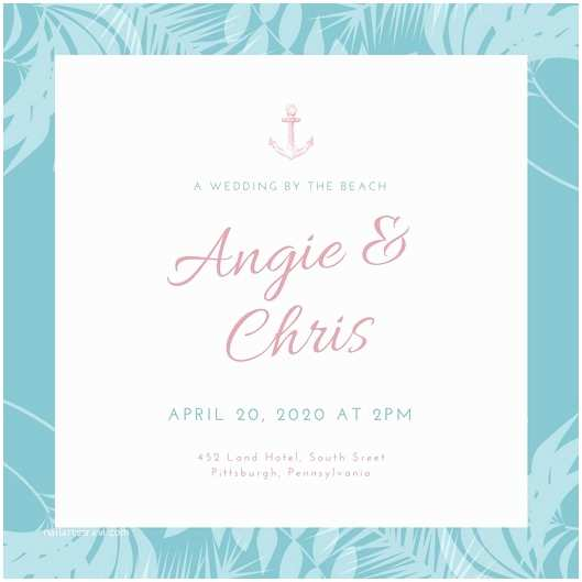 Beach Wedding Invitations Online Customize 104 Beach Wedding Invitation Templates Online