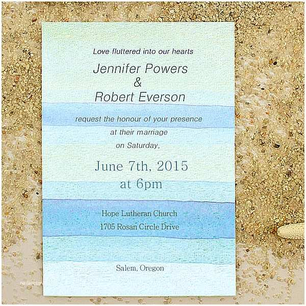 Beach Wedding Invitations Online Printable Watercolor Beach Summer Wedding Invitations