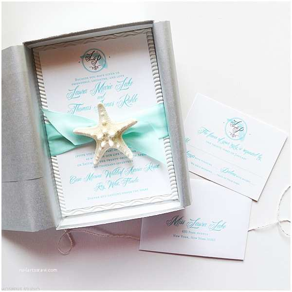 Beach Wedding Invitations Tiffany Blue Beach Wedding Invitations