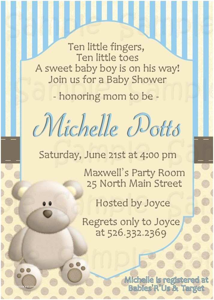 Bear Baby Shower Invitations 16 Best Images About Invitaciones On Pinterest