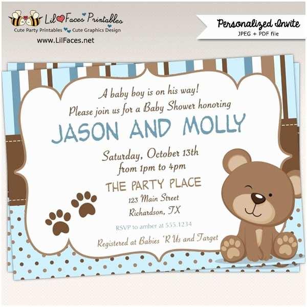 surprising teddy bear baby shower invitations to create your own diy baby shower invitations