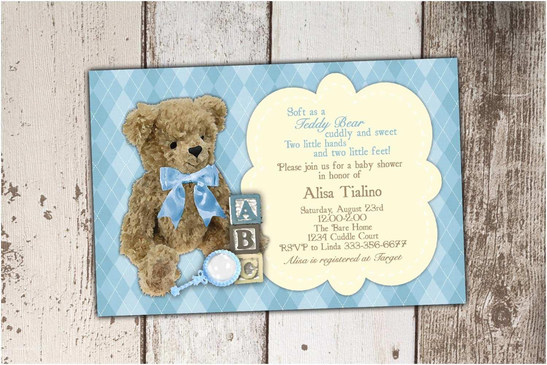 Bear Baby Shower Invitations Teddy Bear Baby Shower Invitation Old Fashioned Vintage