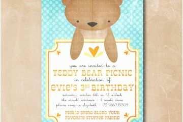 Bear Baby Shower Invitations Teddy Birthday Party