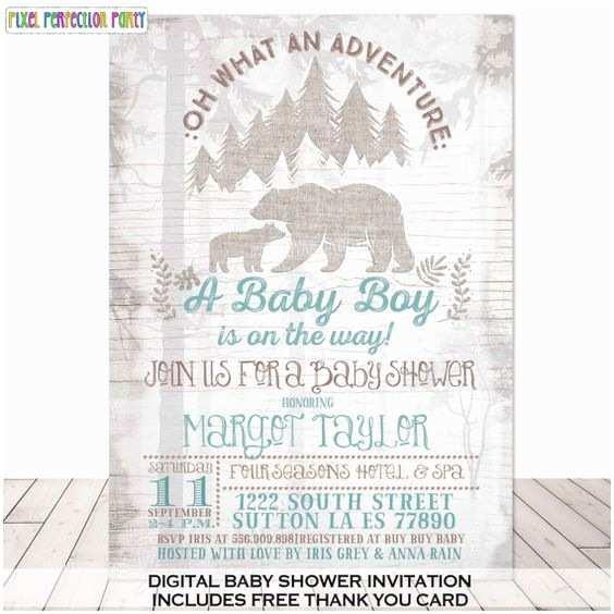 Bear Wedding Invitations Bear Baby Showers Baby Shower Invitations and Shower