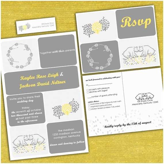 Bear Wedding Invitations Items Similar to Custom Kissing Bears Wedding Invitation
