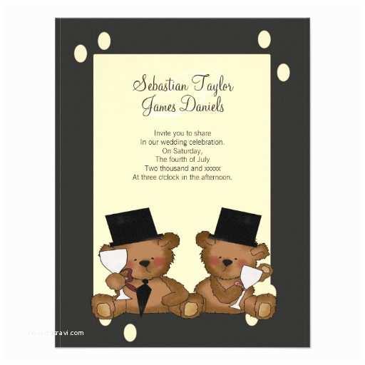 Bear Wedding Invitations Teddy Bear Grooms Wedding Invitations