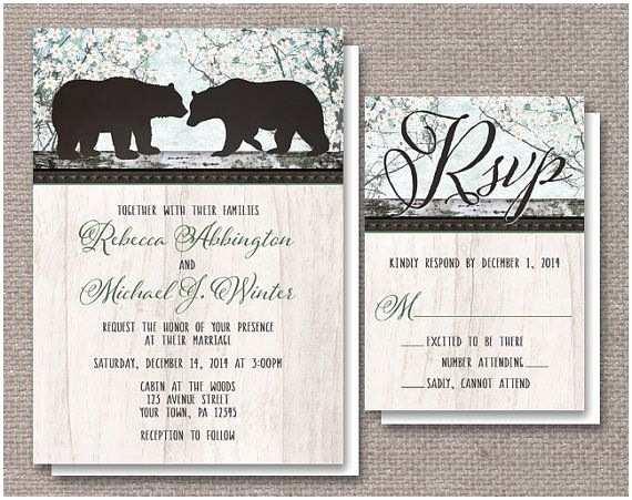 Bear Wedding Invitations the 25 Best Wedding Reply Card Etiquette Ideas On
