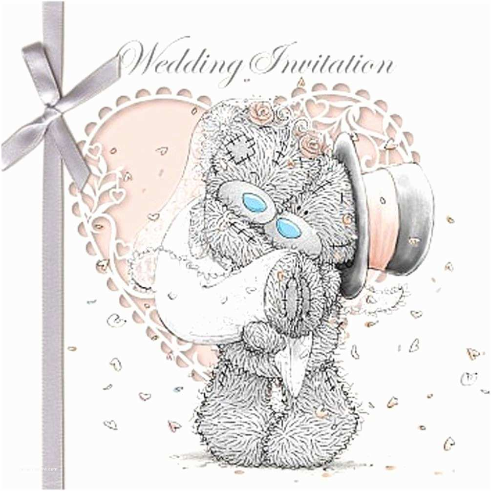 Bear Wedding Invitations Wedding Invitation Me to You Bear Cards Pack Of 6