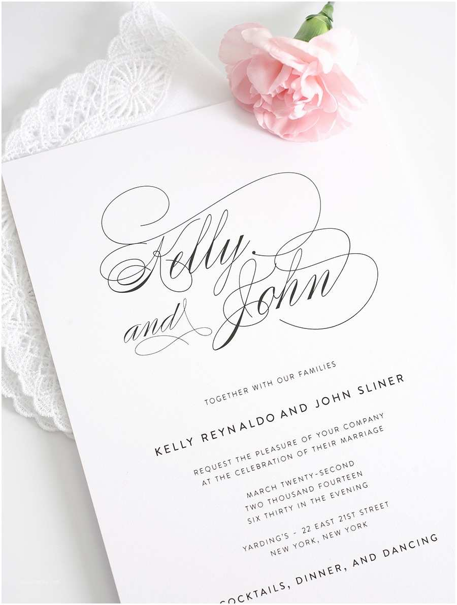 Beautiful Wedding Invitation Wording Beautiful Pink Cute Romantic Flower Font Classic Wording