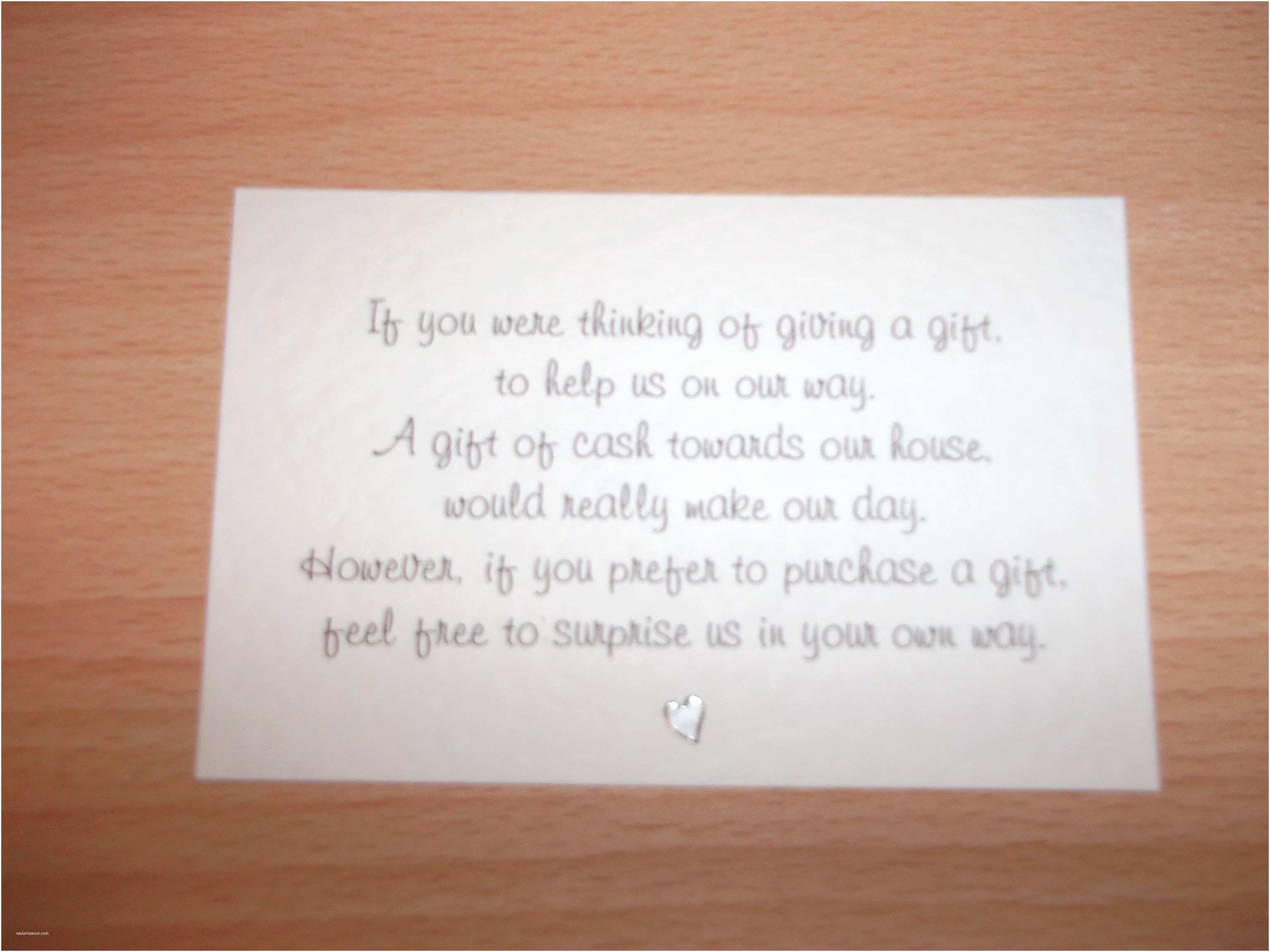 Beautiful Wedding Invitation Wording Wedding Invitation Honeymoon Gift Wording Gift