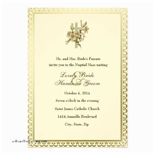 Beautiful Wedding Invitation Wording Wedding Invitation Inspirational Catholic Wedding