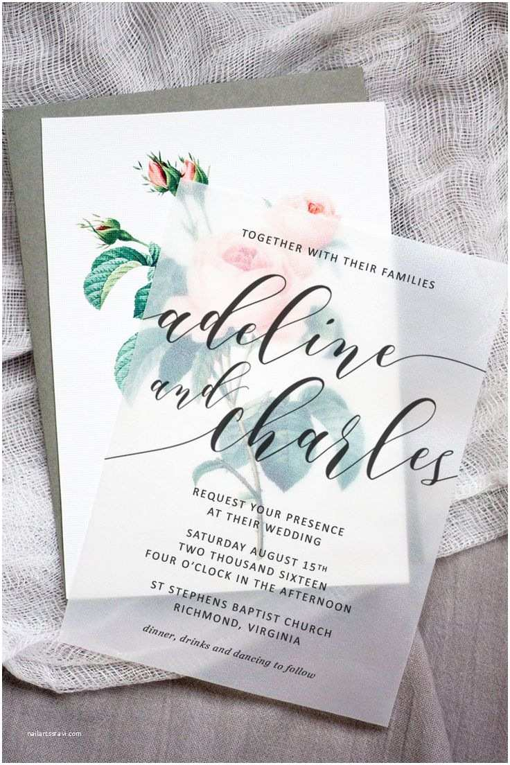 Beautiful Wedding Invitations Beautiful Wedding Invite Template with Red Floral Motif