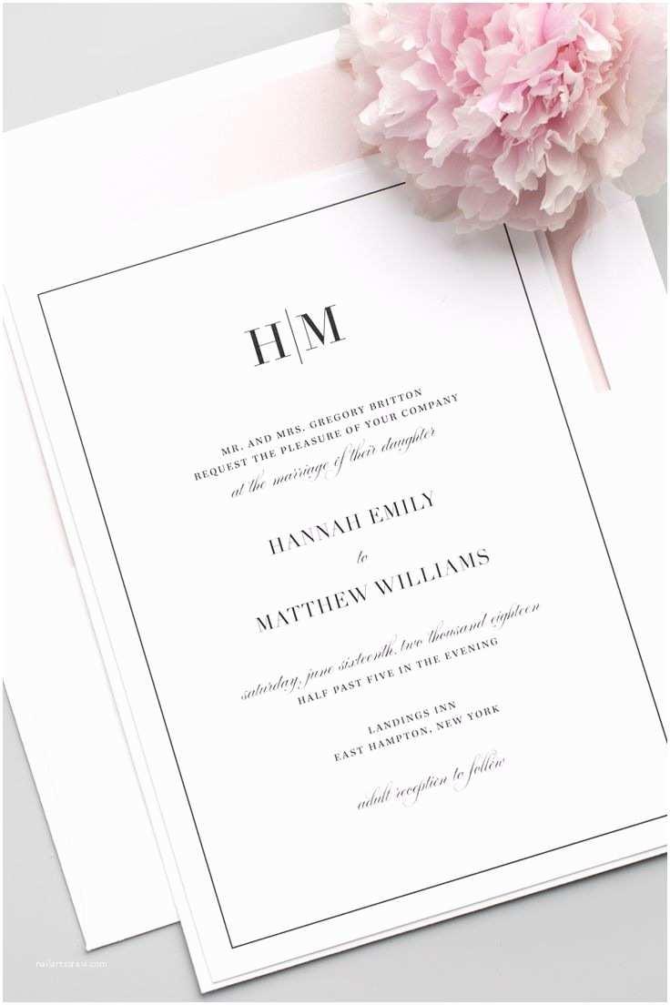 Beautiful Wedding Invitations Pinterest 25 Best Ideas About Modern Wedding Invitations On