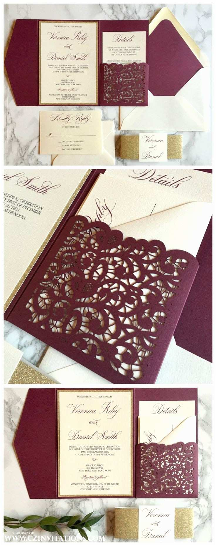 Beautiful Wedding Invitations Pinterest Best 25 Burgundy Wedding Invitations Ideas On Pinterest