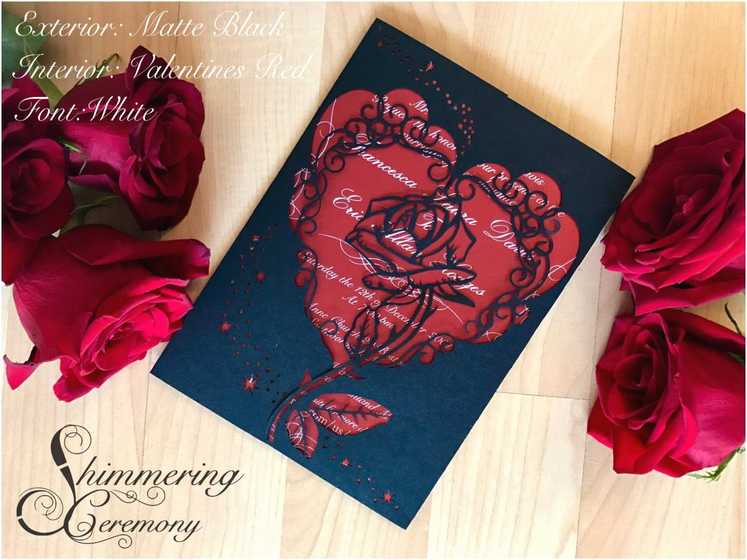 Beauty and the Beast Inspired Wedding Invitations Beauty and the Beast Inspired Wedding Invitation Laser Rose and Magic Cut Gatefold Princess